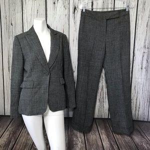 Tahari ASL Gray Pinstripe Suit Blazer and Pants